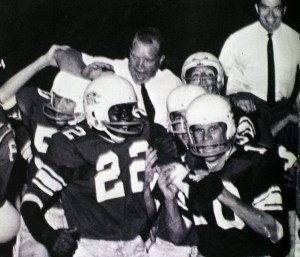 Charles Moulden, 22, joins in Sevier County High School victory celebration in 1963.